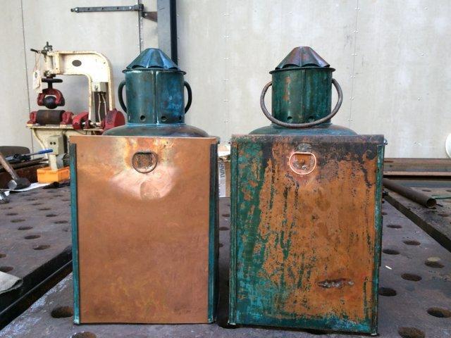 det gamle værft, resturering, kobberlanterner, ærø