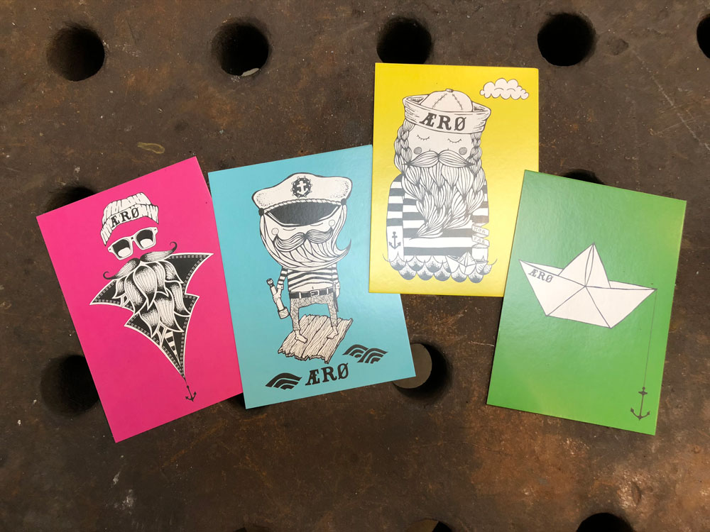 , det gamle værft, DGV postkort grøn, postkort, ærø, namesearle, seje postkort, ø