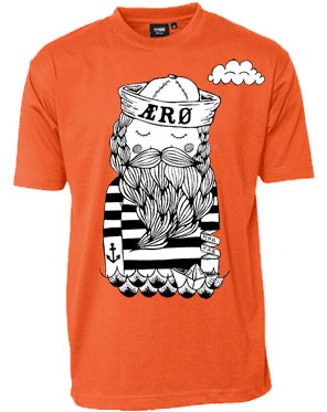 Det Gamle Værft, t-shirt, orange, namesEARLE, ærø, aeroe, menwear, cool