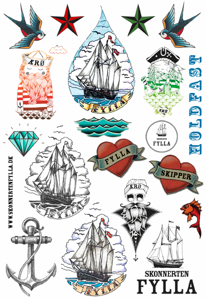 skonnerten, fylla, tato, tattoos, skipper, det gamle værft, ærø, sejlskib, sjov, lejrskole, lærerigt, hav, søfart